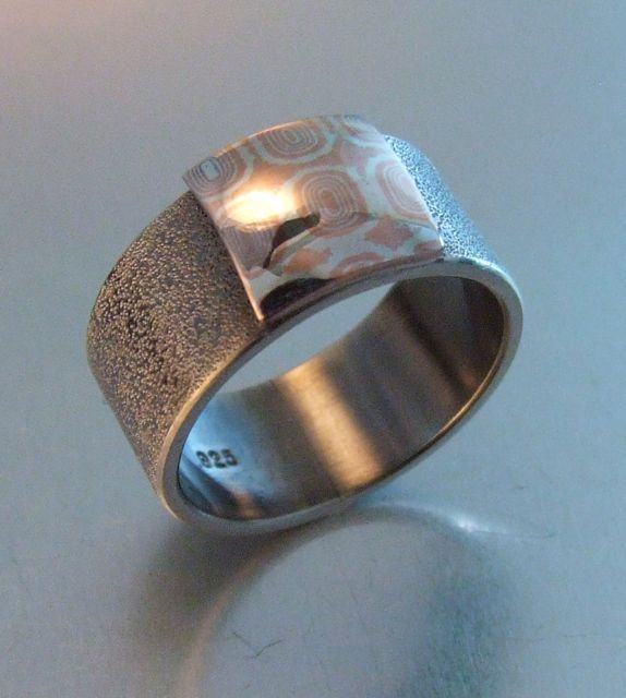 gold gane rings jewellery in white mokume yellow rose silver ring etched